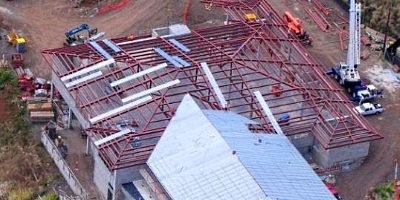 Kamemeha High School, Hawaii - A project of O'Brien Steel Erectors, Inc.